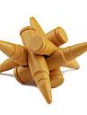 educacional madeira bala bloqueio brinquedo - dourado