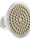 GU10 4W 80 SMD 3528 250 LM Тёплый белый MR16 Точечное LED освещение AC 220-240 V