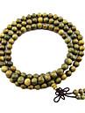 естественный зеленый браслет сандалового дерева
