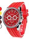 남녀 공통 석영 아날로그 라운드 케이스 플라스틱 밴드 손목 시계 (분류 된 색깔)