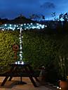 태양은 60 주도의 하얀 빛 야외 요정 등 크리스마스 장식 램프