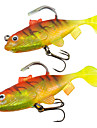 2 pcs Soft Bait Pink Yellow g/Ounce mm inch,Soft Plastic Lead Sea Fishing Freshwater Fishing Bass Fishing