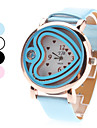 Women's Quartz Analog Heart Style Case PU Band Wrist Watch (Assorted Colors)