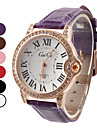 Women's Roman Number Design PU Analog Quartz Wrist Fashion Watch (Assorted Colors) Cool Watches Unique Watches