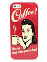 Женщина и кофе жесткий футляр для iphone 5/5s