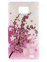 Case Modèle Plum Blossom dur avec diamant pour Samsung Galaxy S2 I9100