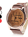 Women's Quartz Analog Brown Dial PU Band Wrist Watch (Assorted Colors)