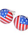 여성용 스터드 귀걸이 USA 스테인레스 라인석 합금 국기 보석류 일상
