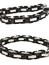 Eruner®Silver and Black Mixed Titanium Steel Bracelet