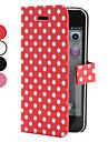 Ponto padrão de capa de couro pu para o iphone 5/5s onda (cores sortidas)
