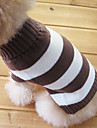 Cat Dog Sweater Dog Clothes Keep Warm Fashion Stripe Costume For Pets