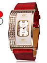 cassa quadrata orologio del quarzo fascia dell'unità di elaborazione delle donne del diamante (colori assortiti)