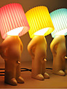 timido menino desenho branco quente candeeiro de mesa LED (cores sortidas)