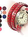 여자의 긴 시계 줄 작풍 PU 아날로그 쿼츠 팔찌는 로마 숫자 (분류 된 색깔)를 가진 시계