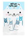 Cute Cat нержавеющей стали Bookmarks (4-Pack)
