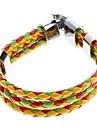 Z&x® трехцветный крест переплетения кожа галун браслет