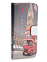 Big Ben Pattern PU Leather Case for iPhone 5/5S