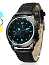 Unisex Simple Style PU Analog Quartz Wrist Watch (Black)