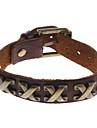 z&x® bracelet en cuir x forme de rivet style vintage
