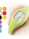 Silicone unissex analógico relógio de pulso de quartzo (cores sortidas)