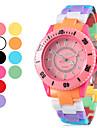 Мужская пластиковые кварцевые аналоговые наручные часы (Multi-Colored)
