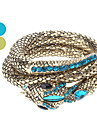 Snake-shaped Zircon Bracelet