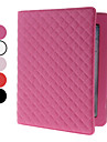 Grid Style PU Leather Case with Stand for iPad 2/3/4 (Assorted Colors)