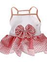 개 드레스 핑크 여름 도트 무늬 웨딩