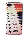 """Рельеф """"Я тебя люблю"""" Pattern Жесткий чехол для iPhone 4/4S (многоцветные)"""