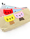Текстильная мультфильм Cat Pattern Карандаш сумка (случайный цвет)