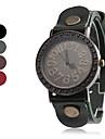 quartz analogique vintage étui en cuir bande montre-bracelet des femmes (couleurs assorties)
