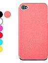 Case litchi de cuir de modèle de protection dur pour iPhone 4/4S (couleurs assorties)