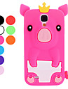 Lovely Cartoon Pig with Crown Soft Case for Samsung Galaxy S4 I9500 (Assorted Colors)