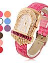 Mode analogique au quartz Zircon montre-bracelet des femmes (couleurs assorties)