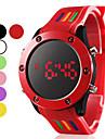 Муж. Спортивные часы Цифровой LED силиконовый Группа Черный Белый Красный Зеленый Розовый Фиолетовый Желтый