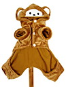 Dog Costume / Hoodie / Outfits Brown Dog Clothes Winter Animal Cosplay / Halloween
