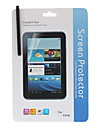 Crystal Clear Screen Protector With Cleaning Cloth and Touchscreen Stylus for Samsung Galaxy Tab P3100