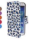 Леопардовый шаблон PU кожаный чехол с подставкой и карты памяти для Samsung Galaxy i9500 S4 (разных цветов)