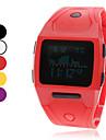montre unisexe multifonctionnel numérique bande de caoutchouc poignet (couleurs assorties)