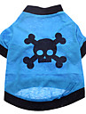 Dog Costume / Shirt / T-Shirt / Outfits Blue Dog Clothes Summer Skulls Cosplay / Halloween