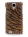 Rhinestone Decorated Tiger Stripe Hard Case for Samsung Galaxy S4 I9500