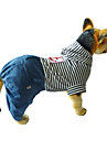 Dog Jumpsuit Dog Clothes Stripe Red Blue Cotton Costume For Pets Men\'s Women\'s Casual/Daily