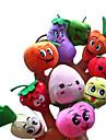5PCS Fruit & Veggie Plush Finger Puppets criancas falam Prop (Tipos aleatorio)