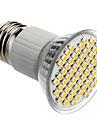 E27 4W 60x3528SMD 180-240LM 3000-3500K lumière blanche chaude Ampoule LED spot (85-265V)