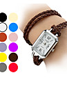 Women's Long PU Band Analog Quartz Bracelet Watch (Assorted Colors)