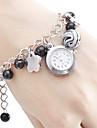 Mulheres Bracele Relógio Quartzo Banda Elegantes Cores Múltiplas