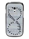 Птица Тканые Design Pattern Жесткий чехол для Samsung Galaxy S3 мини-I8190