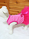 Кошка Собака Платья Одежда для собак Цветочные / ботанический Розовый Терилен Костюм Для домашних животных