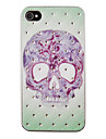 Tattoo Skull Pattern Zircon Back Case for iPhone 4/4S iPhone Cases
