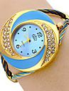 Diamond Dial Steel analogique Montre-bracelet à quartz pour femmes (Multi-couleur)